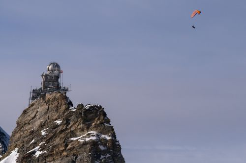 jungfraujoch mountain station paragliding