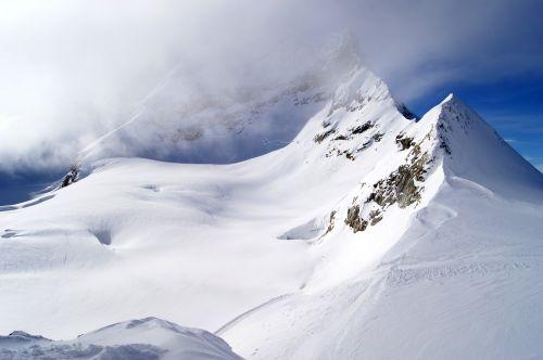 jungfraujoch mountains snow landscape