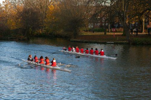 junior oarsmen rowing boat rowing