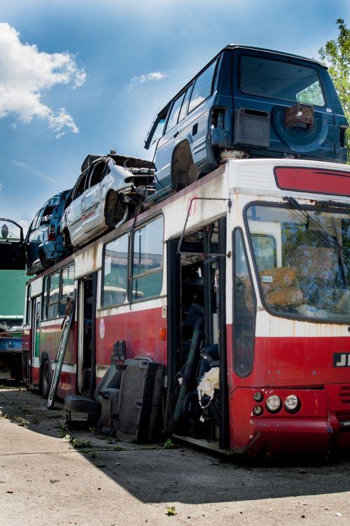 junkyard collision bus