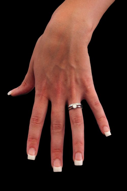 Just Married Hand With Ring