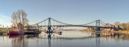 kaiser wilhelm bridge  wilhelmshaven  landmark