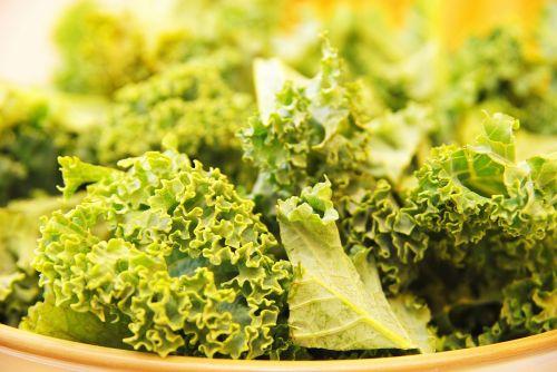 kale eating food