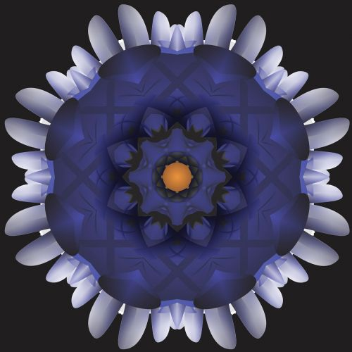 kaleidoscope abstract cylinder