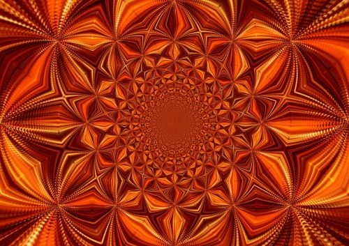 kaleidoscope digital art pattern