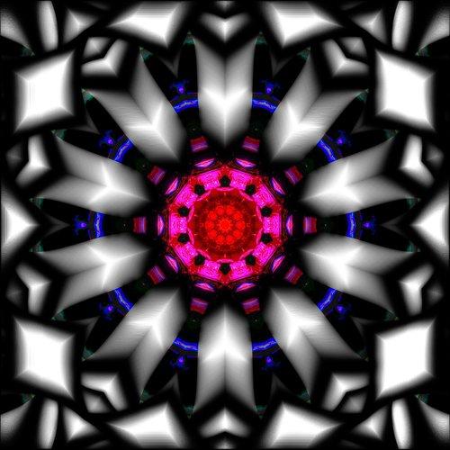 kaleidoscope  round  metal