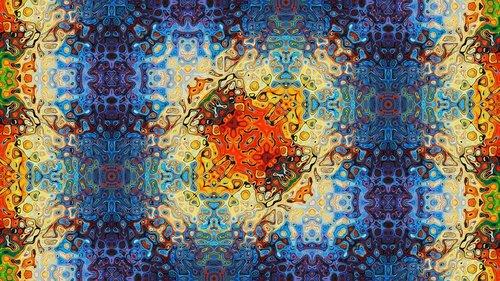 kaleidoscope art  pattern  ornament