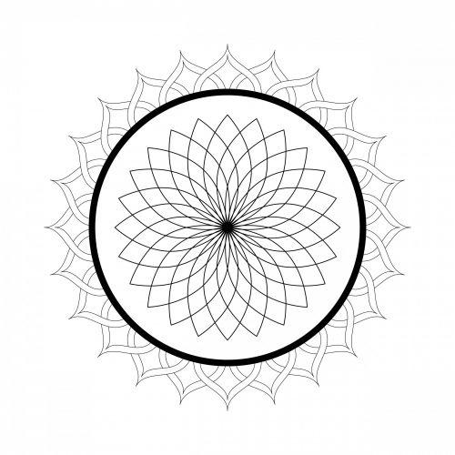 Kaleidoscope Mandala Coloring Page