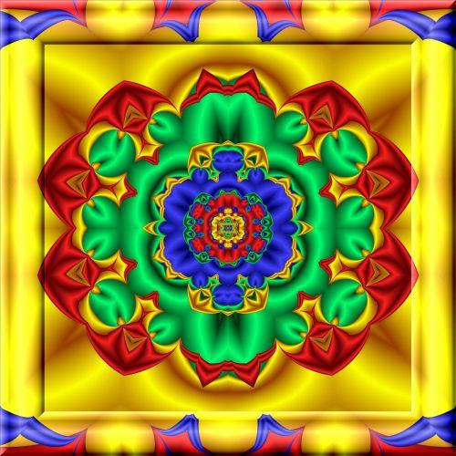 Kaleidoscopic Color Fractal