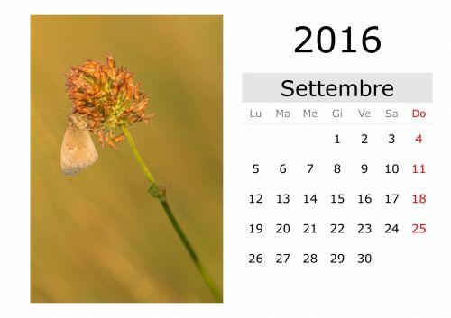 Calendar - September 2016 (Italian)