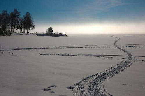 kalix snowmobile tracks mist