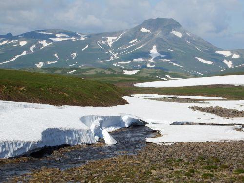 kamchatka,kalnų plynaukštė,tundra,vulkanas,sniegas,vasara,Rugpjūtis,kalnai,kedras,krūmas,atvira erdvė,keliai,aukštis,kraštovaizdis,gamta,kelionė,upė,highlangs,keliauti,keliauti,turizmas,gėlės,saulėlydis,vakarinis dangus,vasaros diena,krūmai