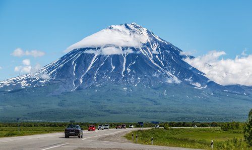 kamchatka  volcano  landscape