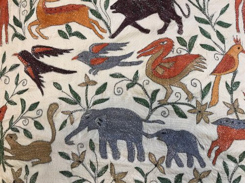 kantha embroidery animals