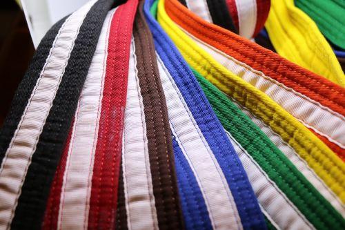 karate martial arts belts