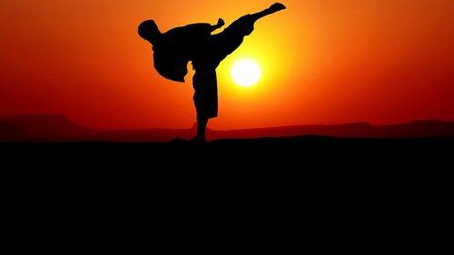 karate  sunset  nature