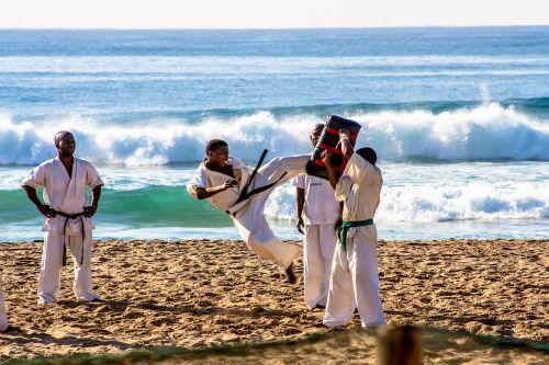 karate sport beach