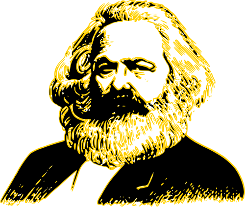 karl marx portrait man