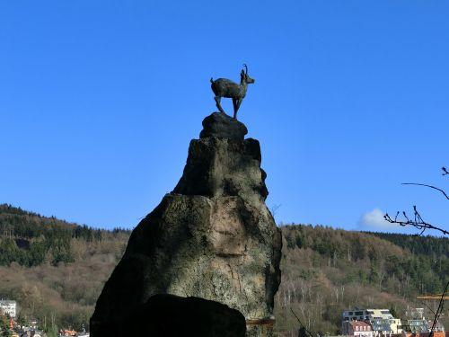 karlovy vary statue chamois