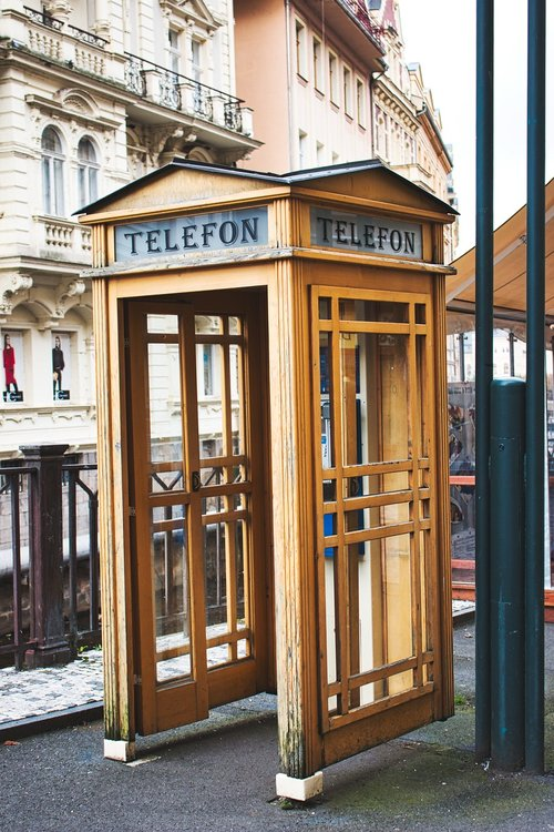 karlovy vary  phone booth  old