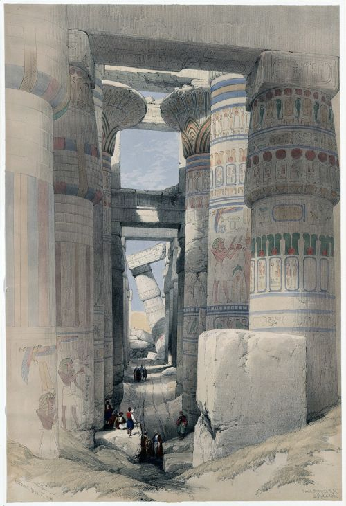 karnak temple pillared hall columnar