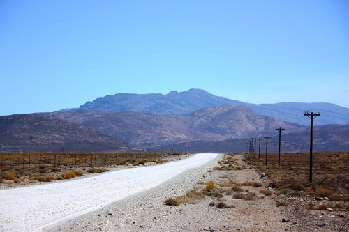 karoo  gravel road  desert
