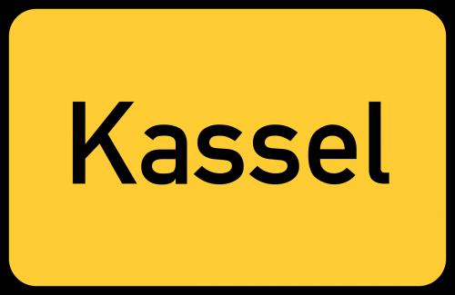 kassel hesse town sign