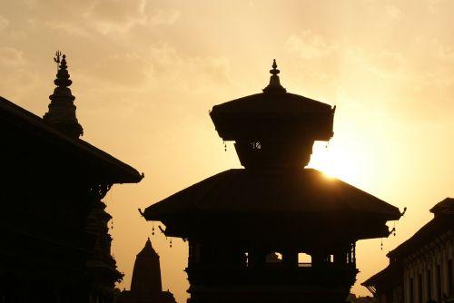 kathmandu nepal evening