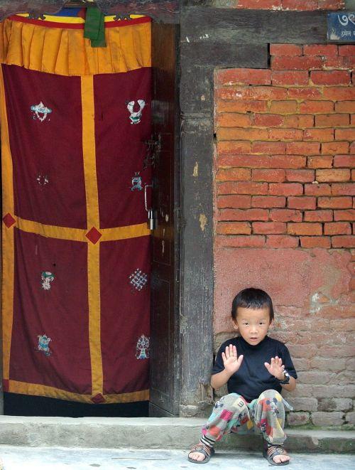 kathmandu nepal boy