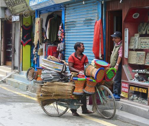 kathmandu nepal street vendor