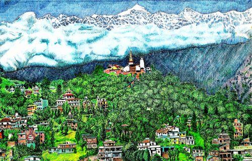 Kathmandu Rooftop View