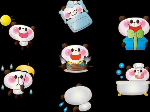 kawaii  panda bear  bathtub