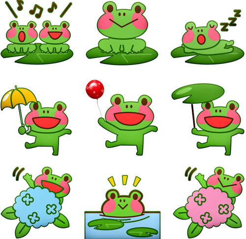 kawaii frog  frog  singing frog