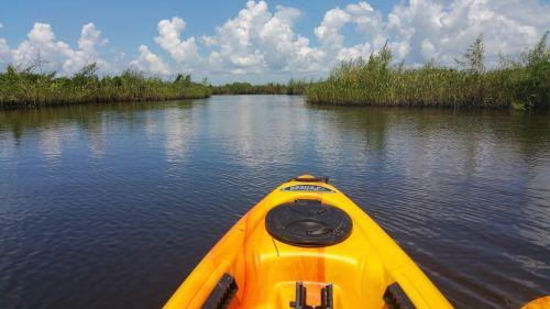 kayak water marsh