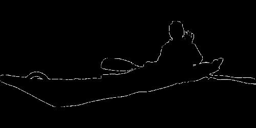 kayak sea man