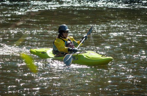 kayak kayaker kayaking