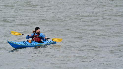 kayak kayaker water