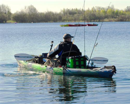 kayak fishing fisherman