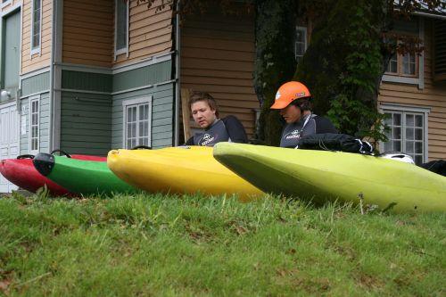 kayak travel colorful