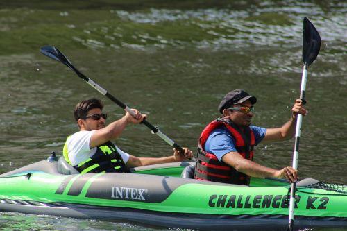kayak boat row