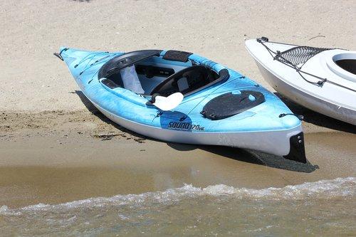 kayak  lake  summer