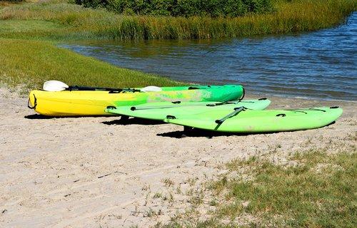 kayak  surf board  paddle boards