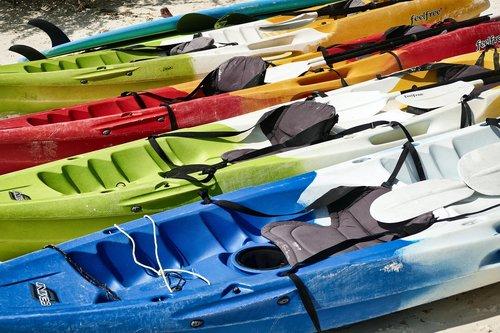 kayak  rowing boat  canoeing