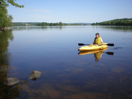 kayak river peaceful