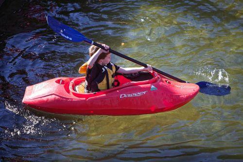 kayak river child