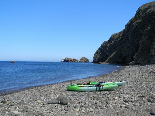 kayak kayaks beach