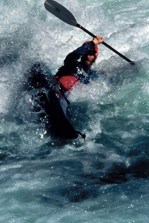 kayaker sport water