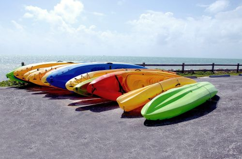 kayaks for rent colorful
