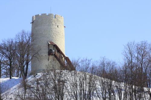 kazimierz tower winter