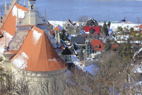 kazimierz dolny panorama of the city city